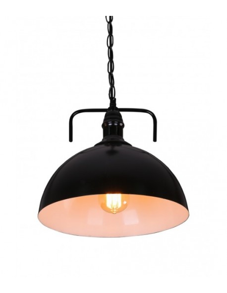 Rustic Country Style Black Dome Pendant Light