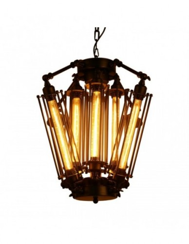 3-Light Industrial Clear Glass Pendant Light