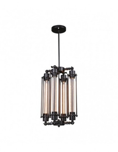 4 Lights Black Retro Industrial Styel Chandelier Pendant Lights