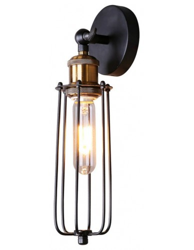 Black Edison Cage Wall Sconce
