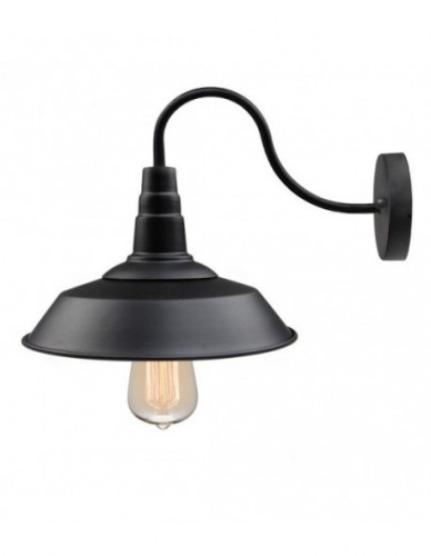 Retro Industrial Style White Wall Sconce - White Small