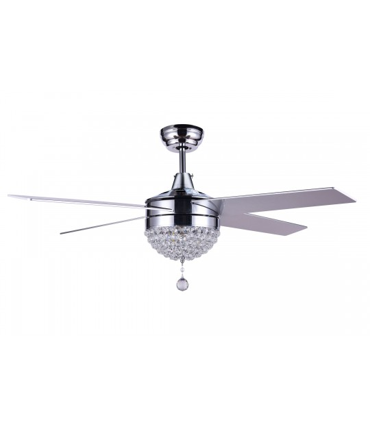 48 Quot Dimmable Crystal Ceiling Fan With Led Light Remote