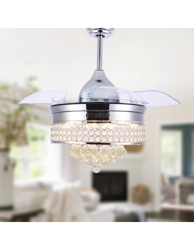 Luxury Crystal Ceiling Fan