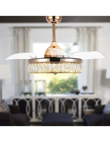 Drum Shade Ceiling Fan Gold